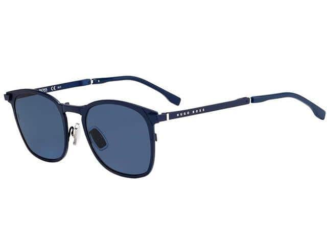 Hugo Boss Men's Foldable Matte Blue Soft Square Metal Sunglasses - $39.99 + Free Shipping