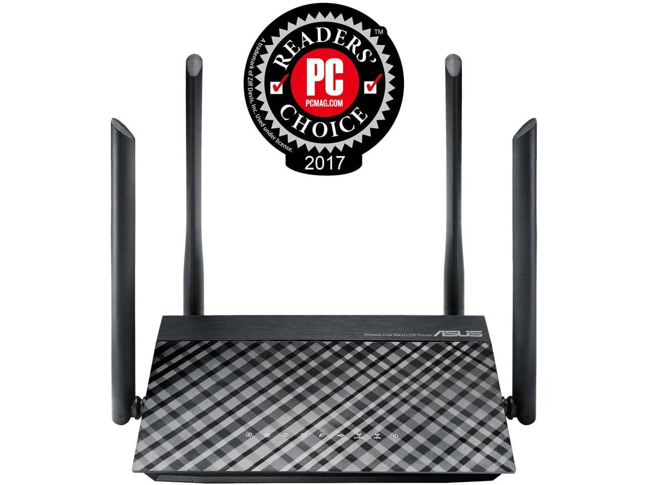 ASUS RT-AC1200 Dual-band 2x2 AC1200 Wi-Fi 4-port Router - $34.99 AC