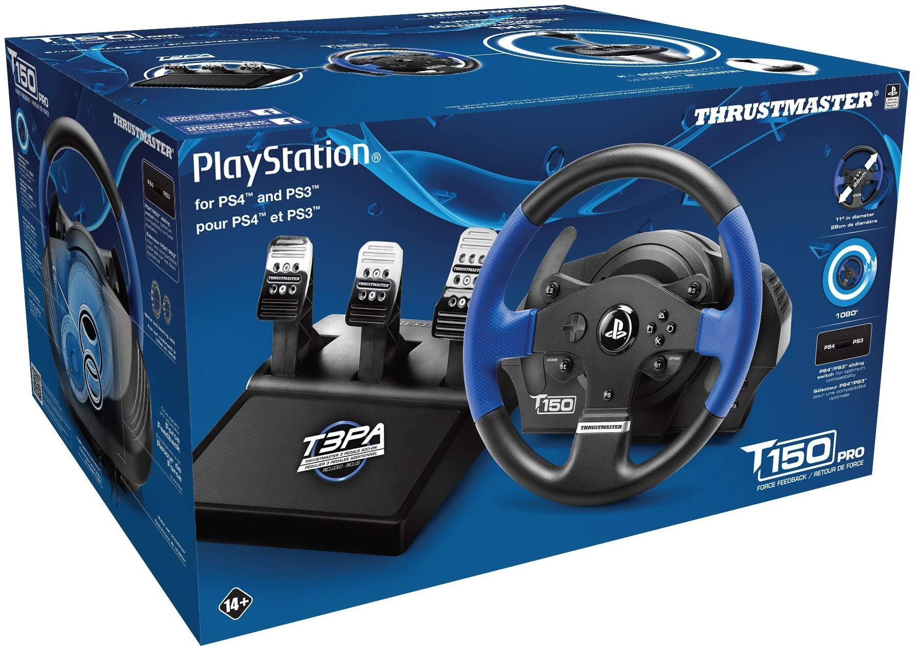 Thrustmaster T150 RS Pro Racing Wheel w/3 Pedal Set T3PA [PS4/PS3/PC] - $154.99 + Free Shipping