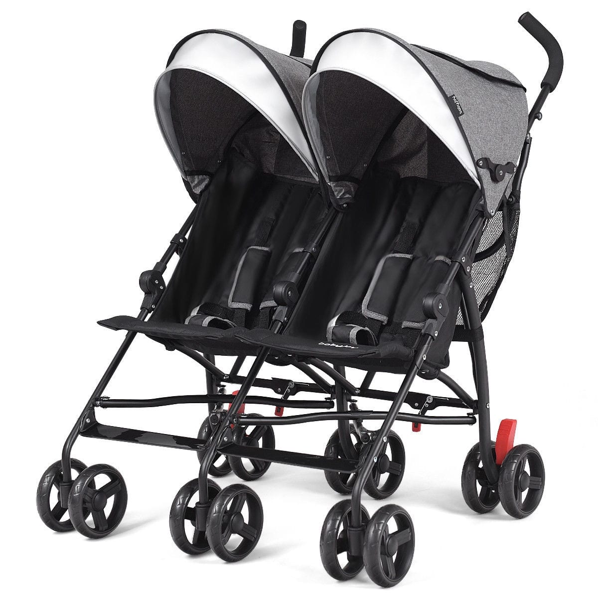 Costway Foldable Twin Baby Double Stroller Ultralight ...