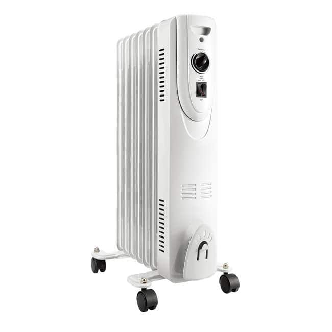 Lifesmart SH-37 1500 Watt Oil Filled Portable Whole Room Radiator Heater, White for $39.99 + FS