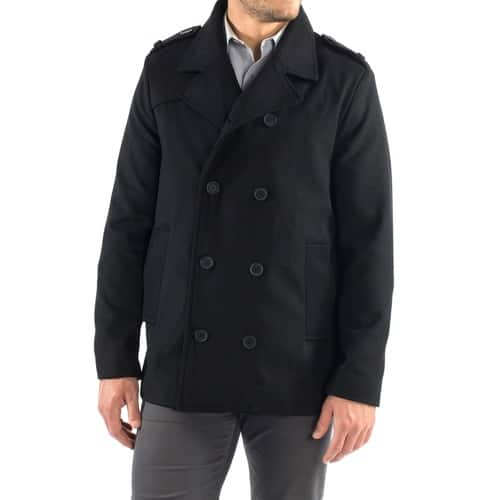 Alpine Swiss Men's Pea Coat for $24.99 + Free Shipping