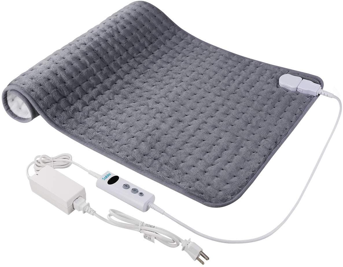 """Sable Electric Heating Pad for Back Pain and Cramps Relief - Extra Large [17""""x33""""]  with Moist & Dry Heat Therapy Options $19.99 + FSSS"""