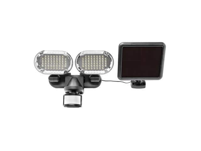 Sunforce 100 LED Twin Head Weather Resistant Solar Motion Light $24.99 + Free Shipping