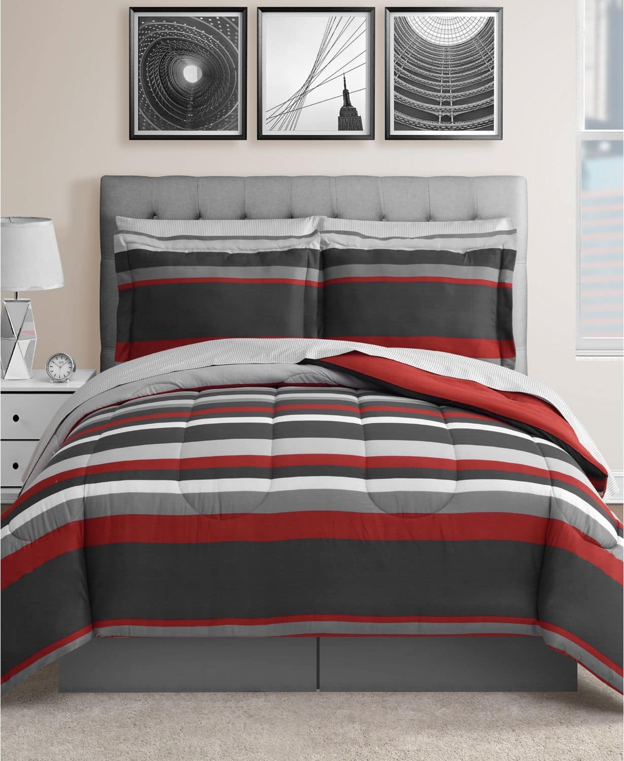 Fairfield Square Collection Austin 8-Pc. Reversible Bedding Sets (Full, Queen, King or California King) for $29.99 + FS