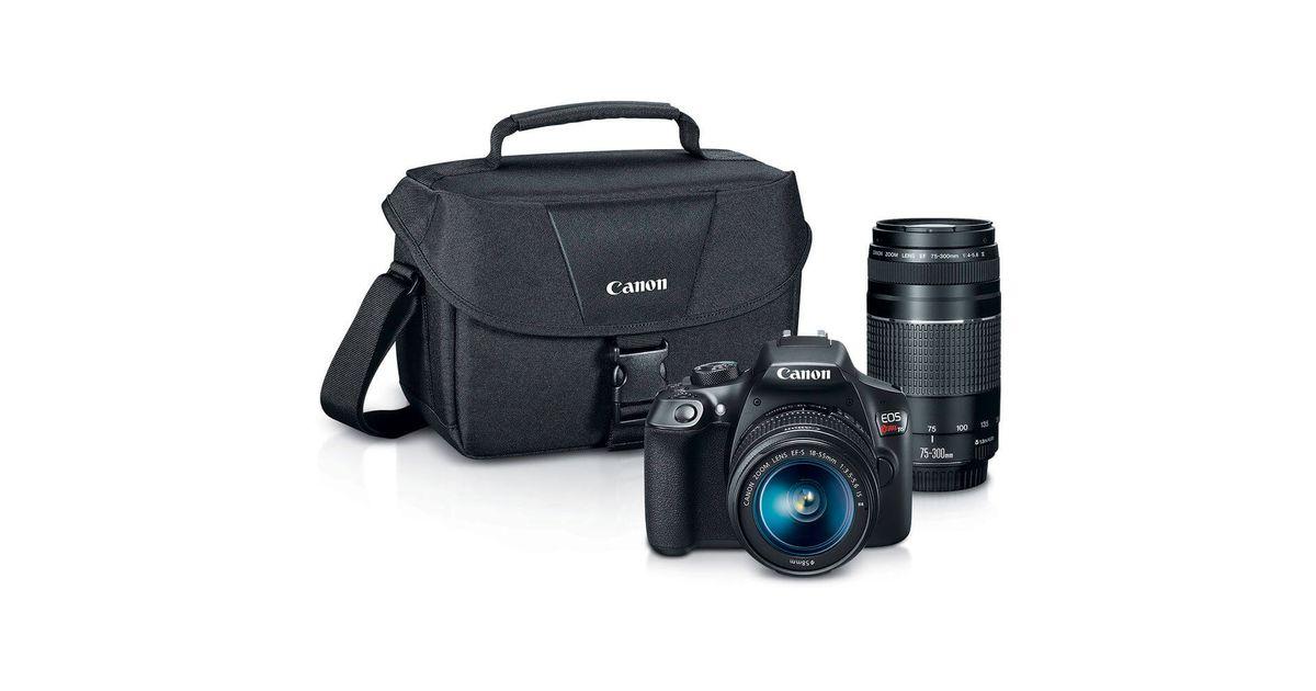 Canon EOS Rebel T6 DSLR Camera w/ 18-55mm + 75-300mm Lens Kit – $385 + FS (Authorized Retailer)