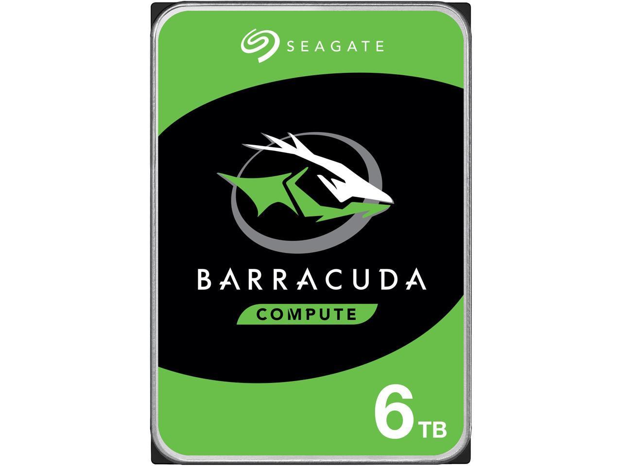 "Seagate BarraCuda 6TB 5400 RPM 256MB Cache SATA 6.0Gb/s 3.5"" Internal Hard Drive ST6000DM003 $109.99 + FS"
