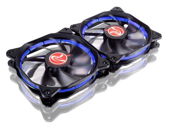 RAIJINTEK AURAS 12 BLUE - 2pcs, A 12025 O-type LED PWM Fan & Anti-Vibration Rubber at 4 Corner $9.99 + FS
