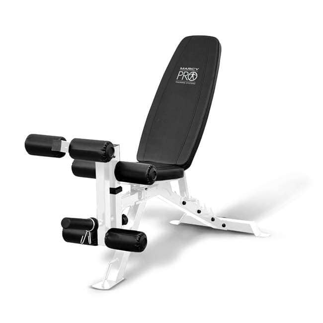 Marcy Powder Coated Steel Home Gym Multipurpose Adjustable Weight Bench, White $99.99 + FS