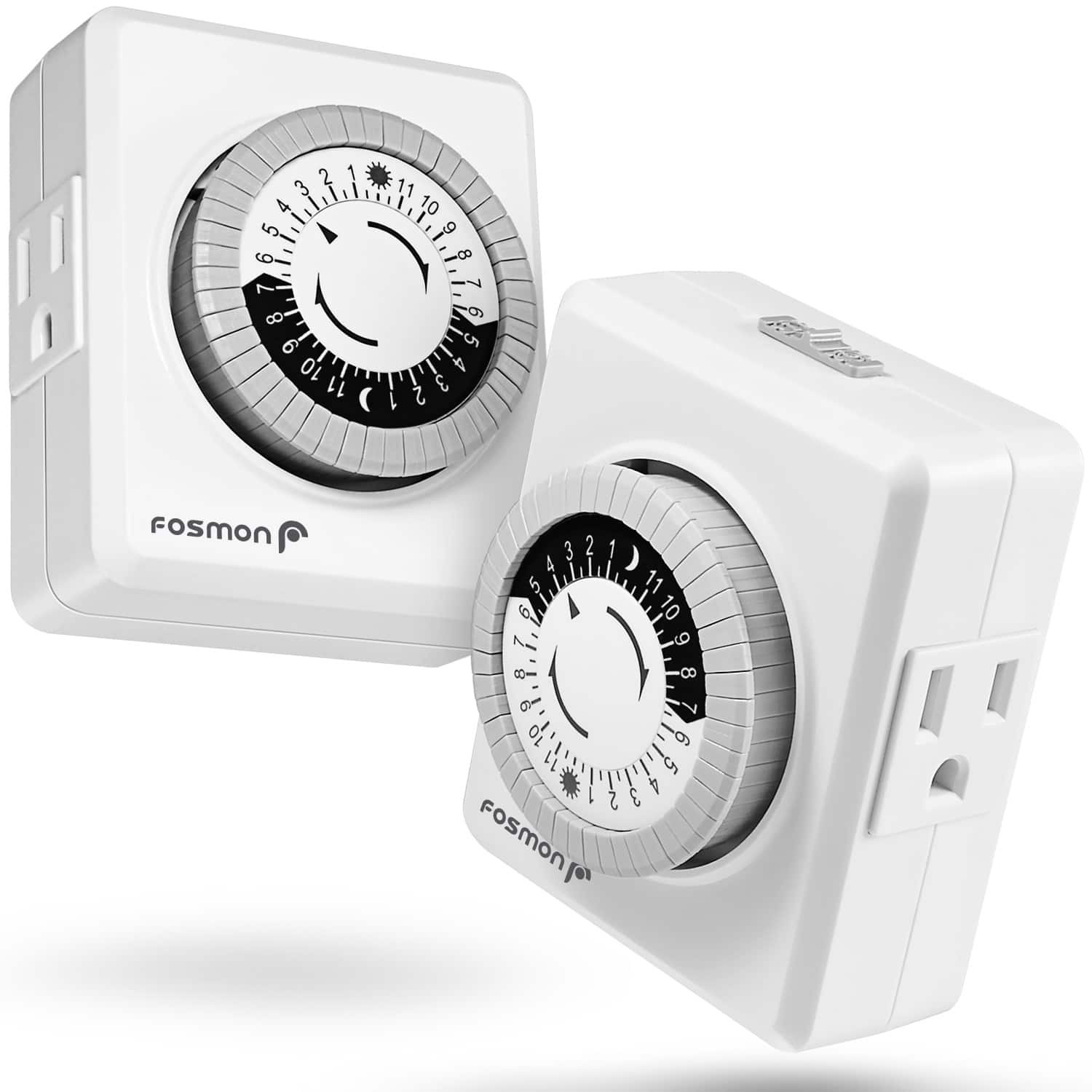 Fosmon Mechanical Indoor/Outdoor Outlet Timers: Starting at $4.50 + FS