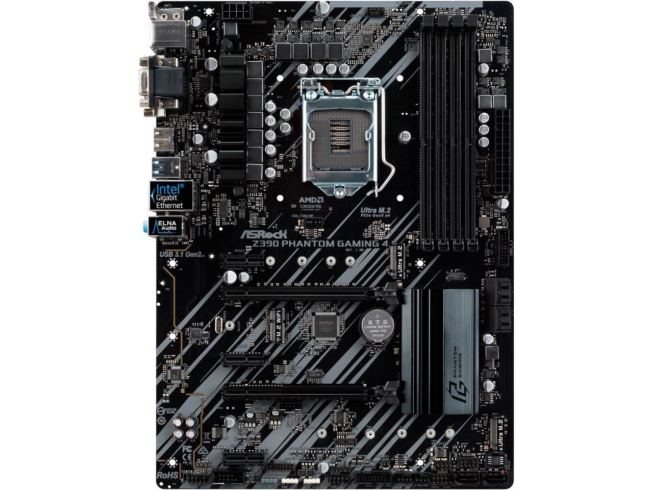 ASRock Z390 Phantom Gaming 4 LGA 1151 (300 Series) ATX Intel Motherboard - $99.99 + FS