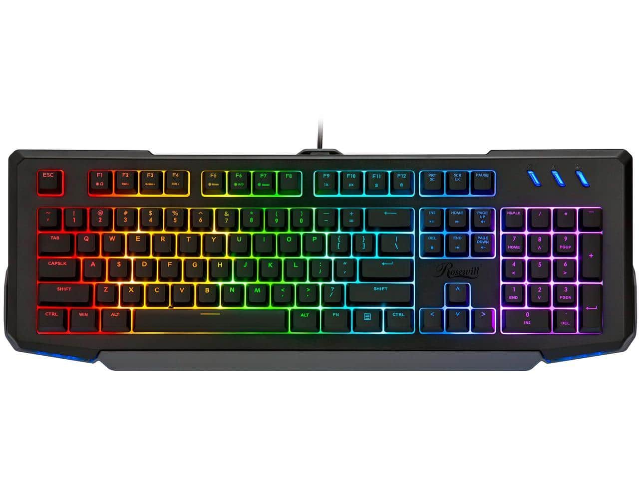 Rosewill NEON K42 RGB Membrane Mechanical Gaming Keyboard - $23 Shipped