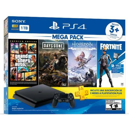 Sony Playstation 4 Slim 1TB GTA 5, Days Gone, Horizon Zero Dawn Complete Edition, Fortnite Versa and 3 Month PS Plus Bundle for $269.99 + FS