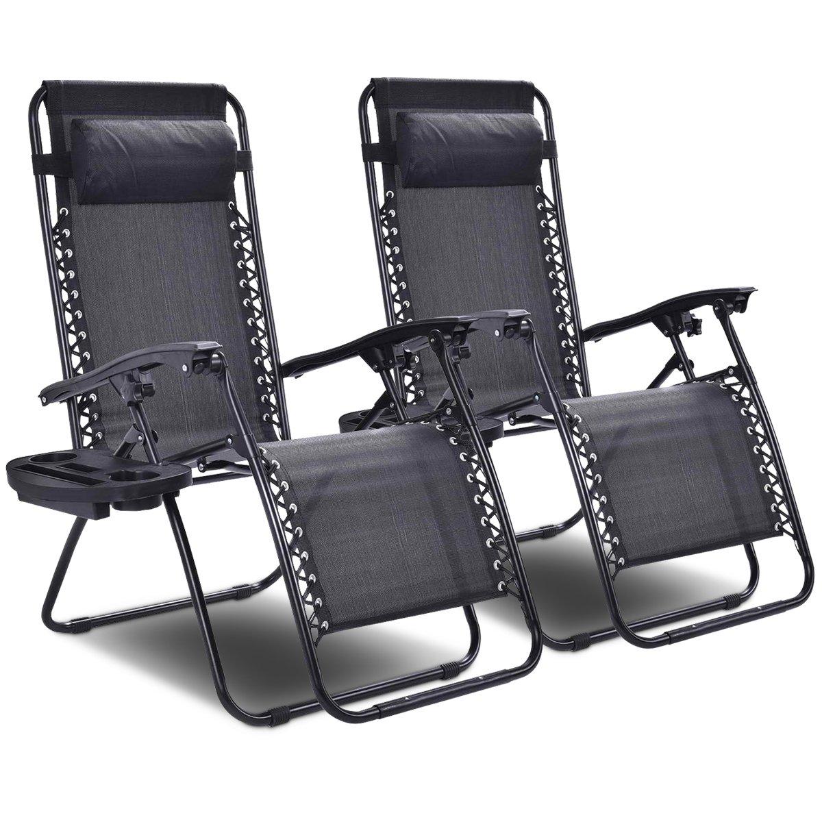 Goplus 2-Pack Zero Gravity Chairs Lounge Patio Folding Recliner -- $79.19 AC + FSSS