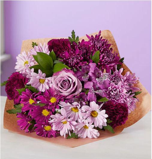 Purple Goddess Mixed Bouquet $34 + FS