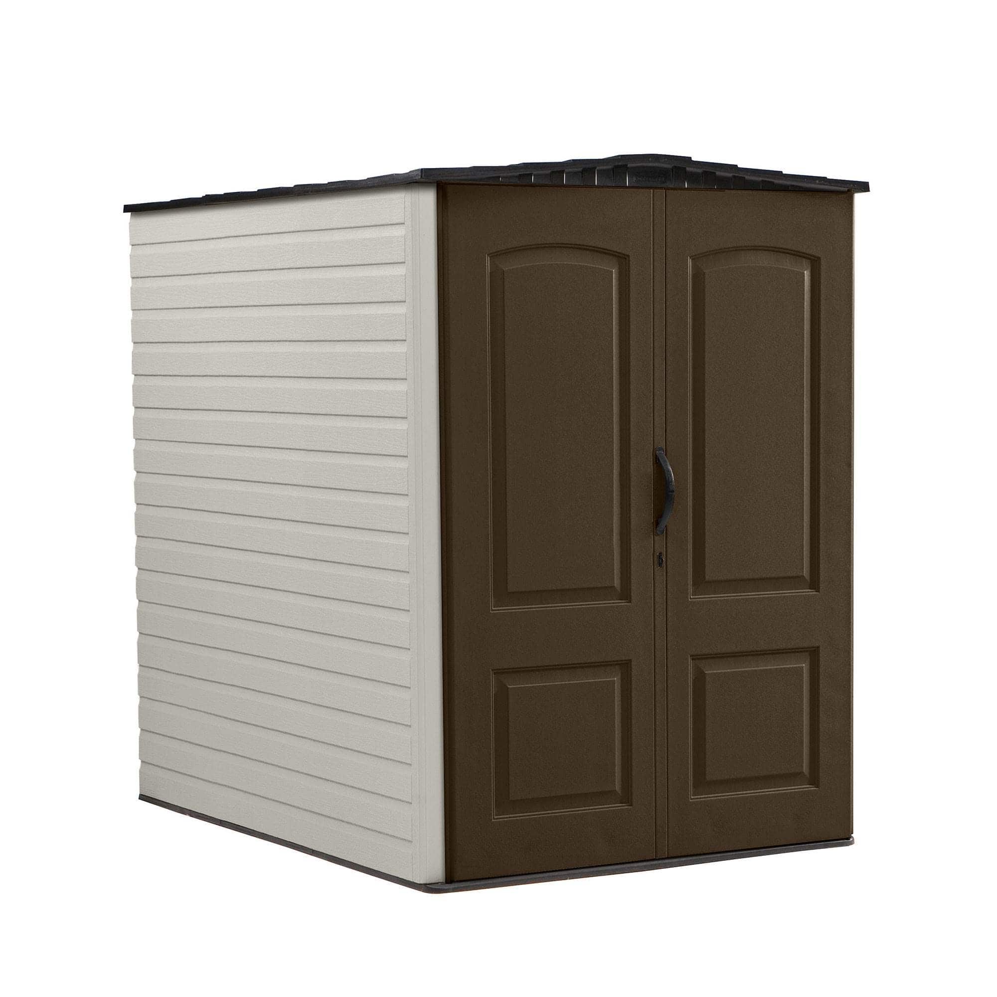 Rubbermaid 5x6 Ft Outdoor Garden Tool Vertical Storage Shed & Shelf Accessories $479.99