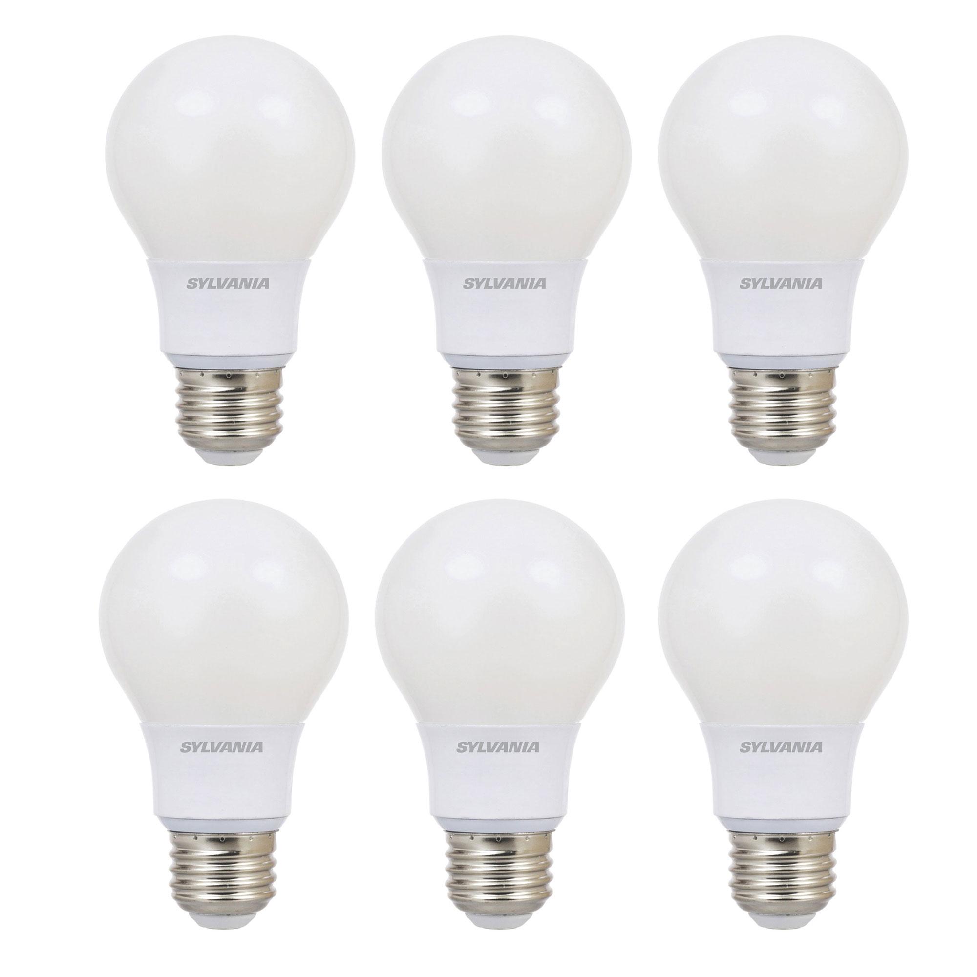 6-Pack - Sylvania Ultra A19 40W 120V E26 Base Dimmable Daylight LED Light Bulb - $16.99 + FS