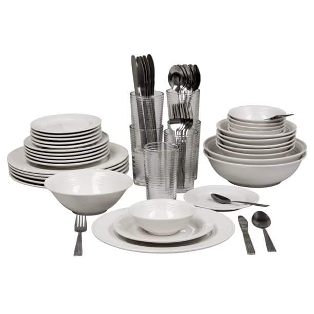 10 Strawberry Street Nova White Round 62-Piece Dinnerware Set (Service for 6) for $44.10 + FS