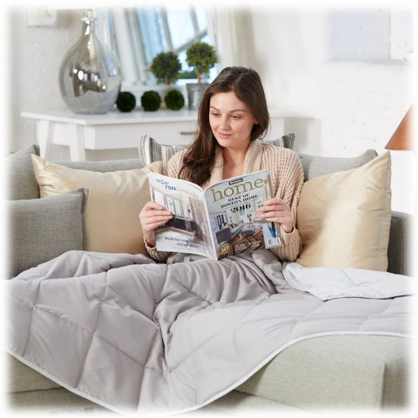 Great Bay Home 15lb Reversible Weighted Blanket $29 + FS
