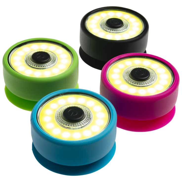 4-Pack: COB LED Magnetic Suction Puck Lights $10 Shipped