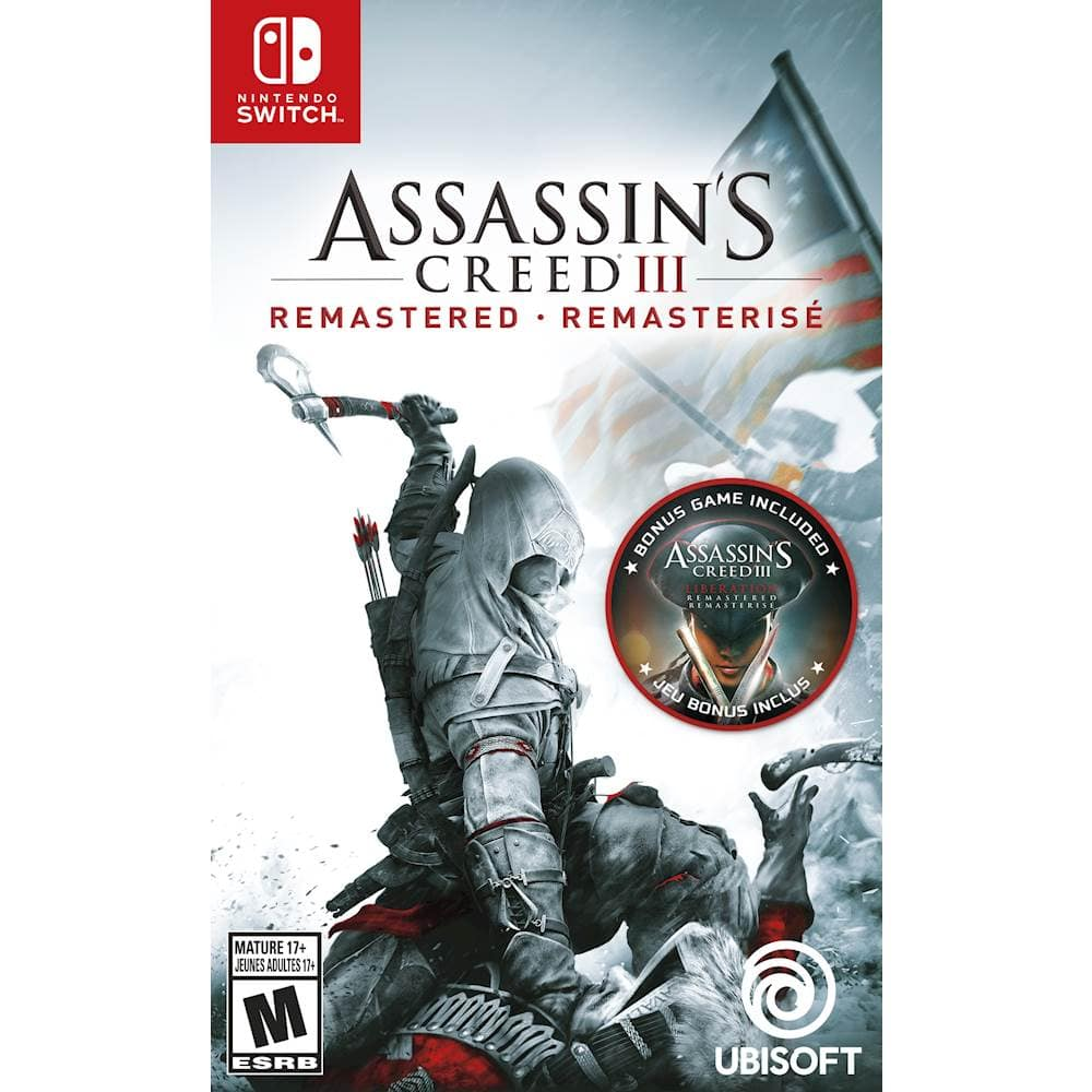 Assassin's Creed III Remastered Edition - Nintendo Switch for $19.99 + Free Store Pickup