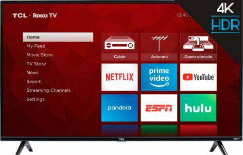 TCL 50S425 50 inch 4K Smart LED Roku TV for $259.99 Shipped