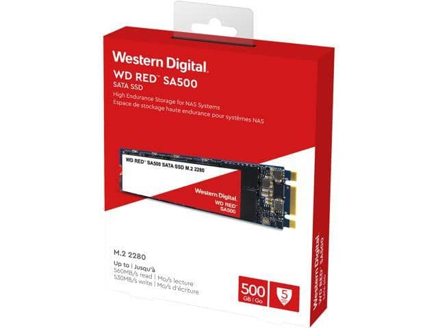 Western Digital Red SA500 M.2 2280 500GB SSD - $69.99 AC