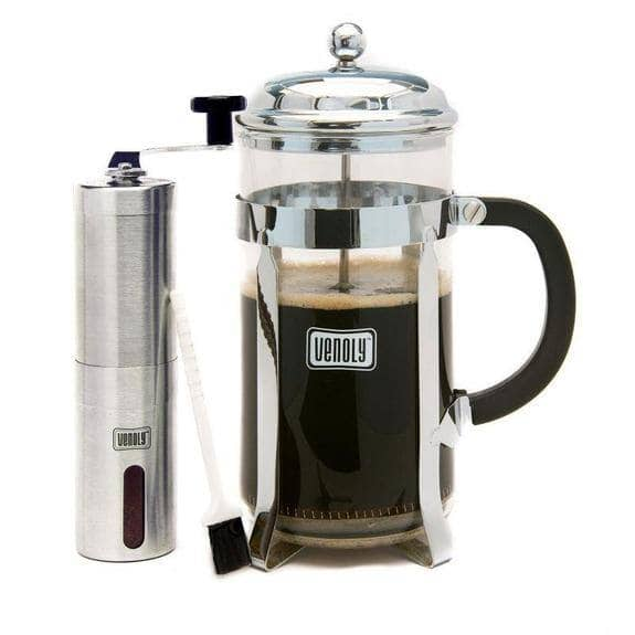 Venoly 8-Cup French Press Coffee Maker with Burr Grinder $14.99 + FS