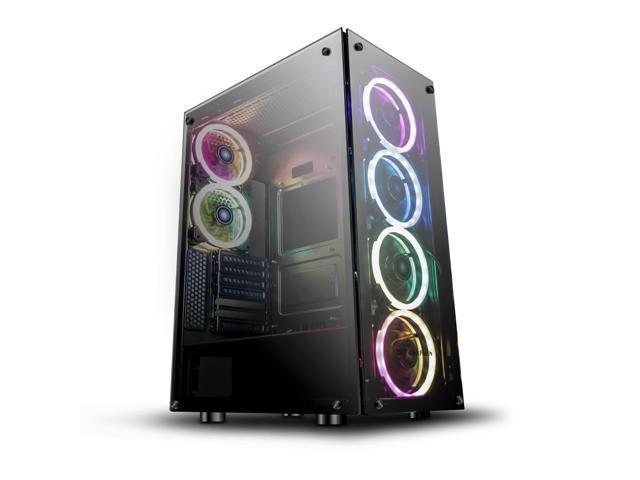 darkFlash Phantom Black ATX Mid-Tower Desktop Computer Gaming Case for $125.99 + Free Shipping