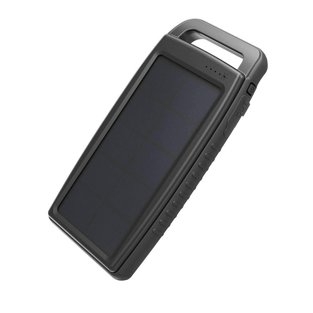 RAVPower 15000mAh Portable Solar Charger (IPX4 Splashproof, Dustproof, Solar Panel Charging, DC5V/2A Input) for $18.99 AC + FSSS