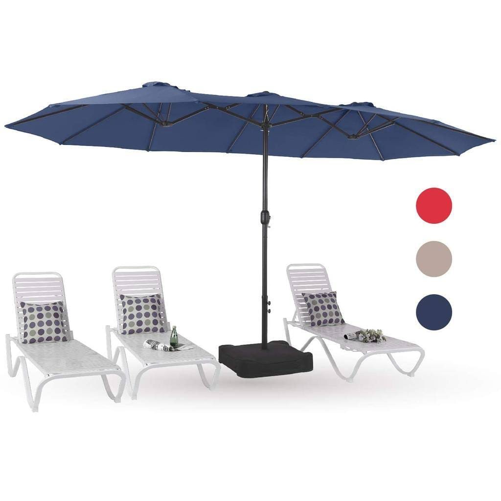 PHI VILLA 15FT Double-Sided Outdoor Patio Umbrella Only $124.99 + FS