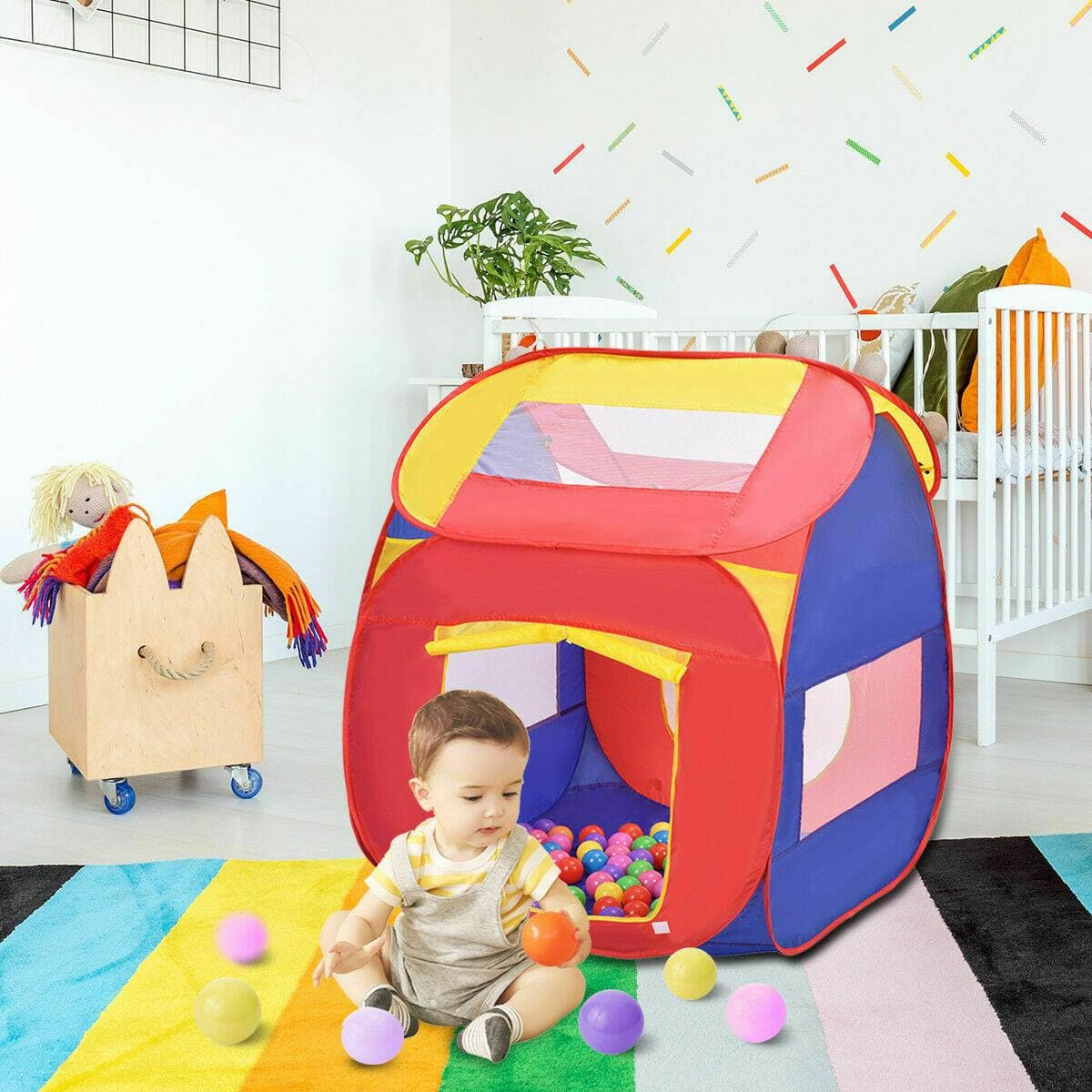 Costway Portable Kid Play House Toy Tent with 100 Balls for $34.95 + Free Shipping