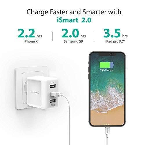RAVPower USB Wall Charger 3-Port 30W $8.99 AC + FSSS