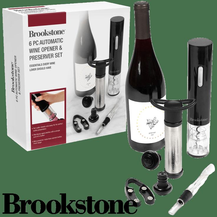 Brookstone 6-Piece Wine Opening and Preserver Essentials Gift Set $30