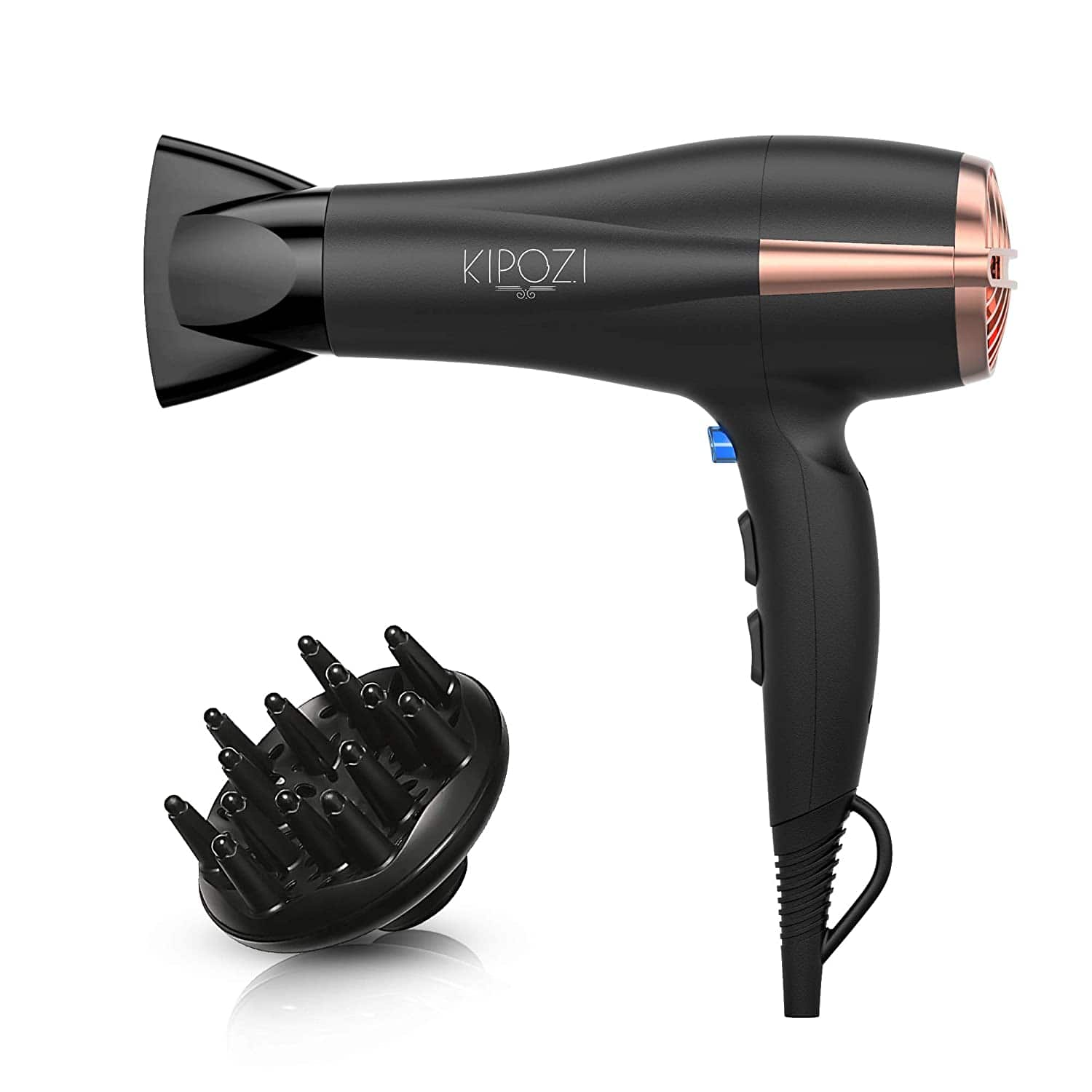 KIPOZI 1875W Lightweight Hair Dryer with Diffuser & Concentrator for $19.98 + FSSS