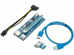 Rosewill PCIe (PCI Express) 16x to 1x Riser Adapter $1.99 Shipped