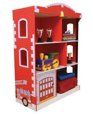 KidKraft Wood Firehouse Kids Red Fire Fighter Bookcase | 76026 for $79.99 + FS