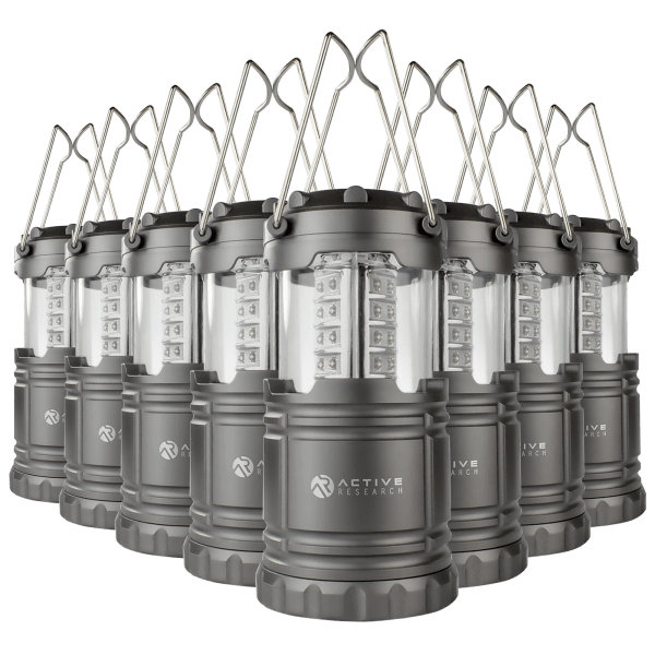 8-Pack AR Portable and Collapsible Water Resistant LED Lanterns/Flashlights $19