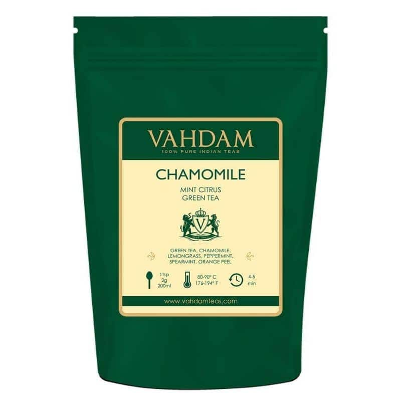 Chamomile Mint Citrus Green Loose Leaf Tea by Vahdam (2-Packs of 100) for $16.99 + FS