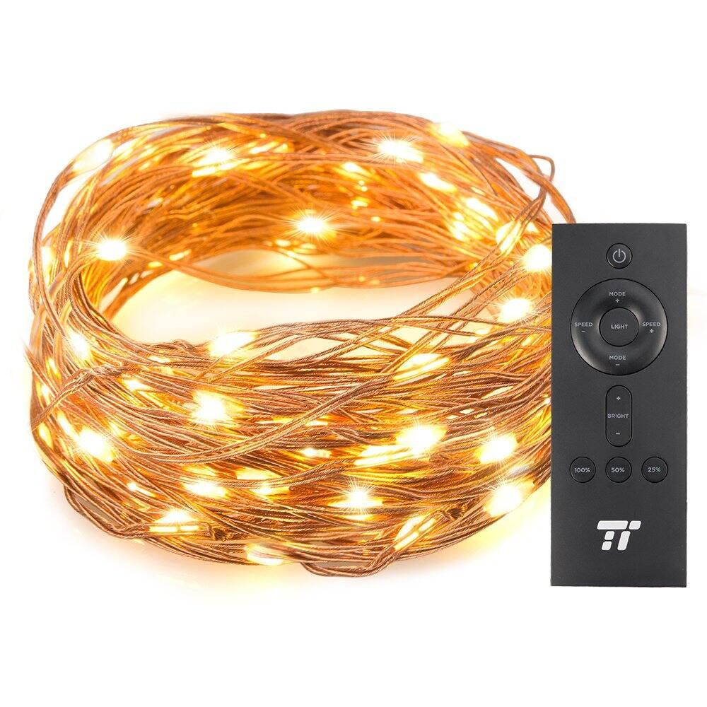 TaoTronics 33 ft 100 LED String Lights With RF Remote Control $6.99 AC + FSSS