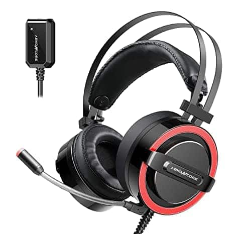 ABKONCORE CH713M ESport Gaming Headset 7.1 Sound Card w/ Noise-Cancelling Mic $38.99 + FSSS