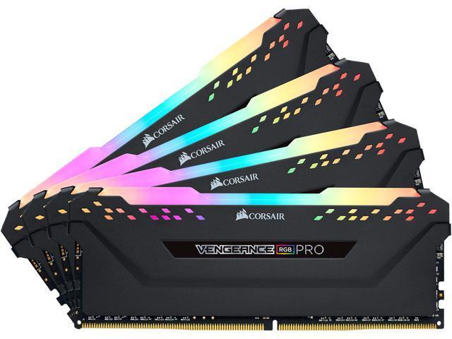 CORSAIR Vengeance RGB Pro 32GB (4 x 8GB) 288-Pin DDR4 DRAM DDR4 3200 (PC4 25600) Desktop Memory for $189.99 + FS
