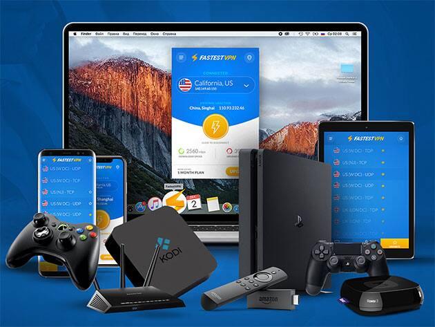 FastestVPN: Lifetime VPN Service Subscription (10 Multi Logins) $15