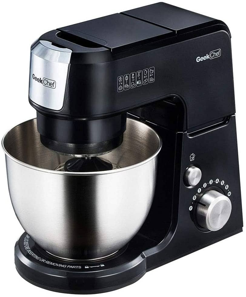 Geek Chef GM25B 2.6 Quart 7 Speed Tilt Head Stand Mixer with Attachments for $49.99