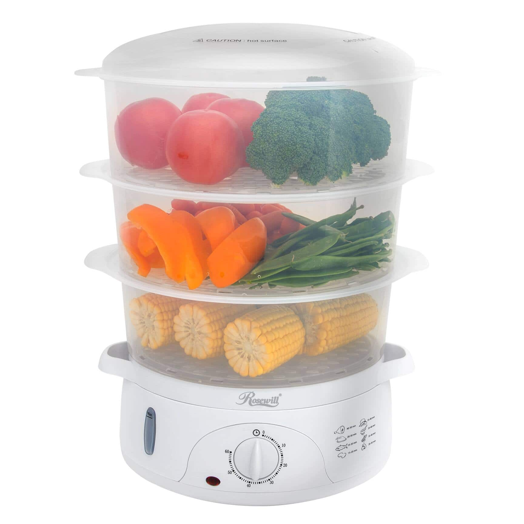 Rosewill 3-Tray Electric Food Steamer for $29.99 + Free Shipping