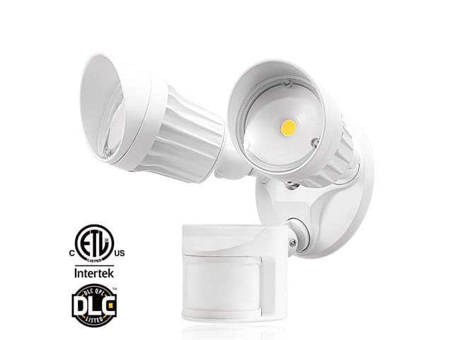 LEONLITE Outdoor 20W Dual-Head LED Security Light 5000K - $28 & More + FS