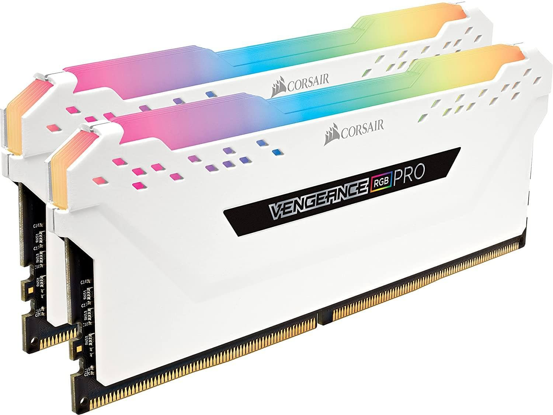 CORSAIR VENGEANCE RGB PRO 16GB (2x8GB) DDR4 3200MHz Desktop Memory (White) - $84.99 + FS