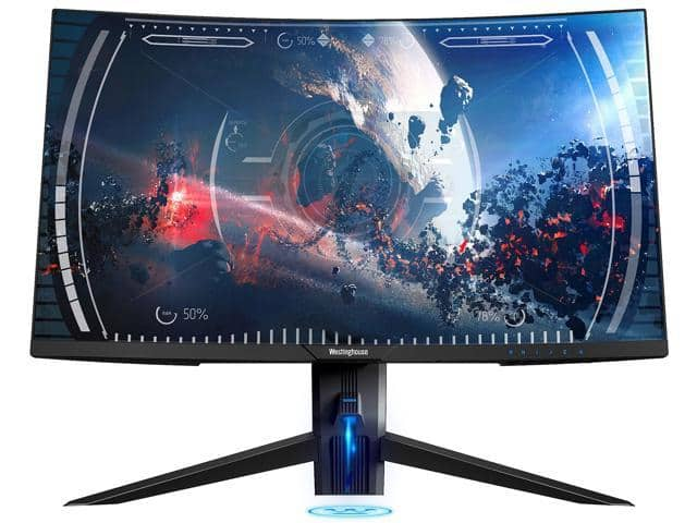 "Westinghouse WC27PX9019 27"" Full HD 1920 x 1080 144Hz FreeSync Widescreen Backlit LED Curved Gaming Monitor for $229 + FS"