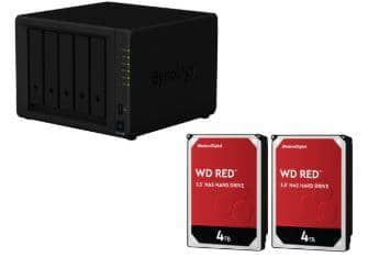 Synology 5 Bay NAS DiskStation DS1019+ with 2-Pack WD Red 4TB - $759.99 & More