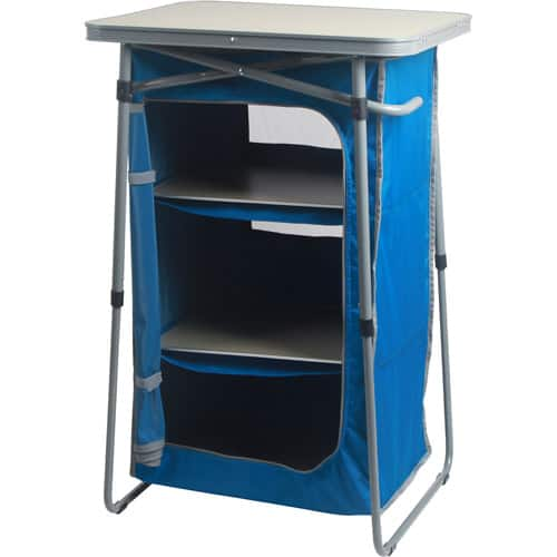 Ozark Trail 3-Shelf Collapsible Cabinet with Table Top for $32.00 + FS